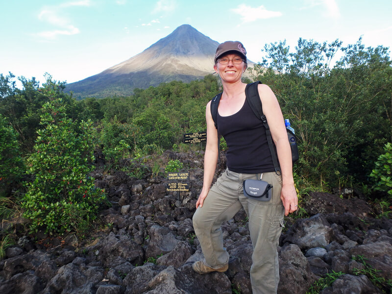 Hiking the old lava trails Arenal National Park