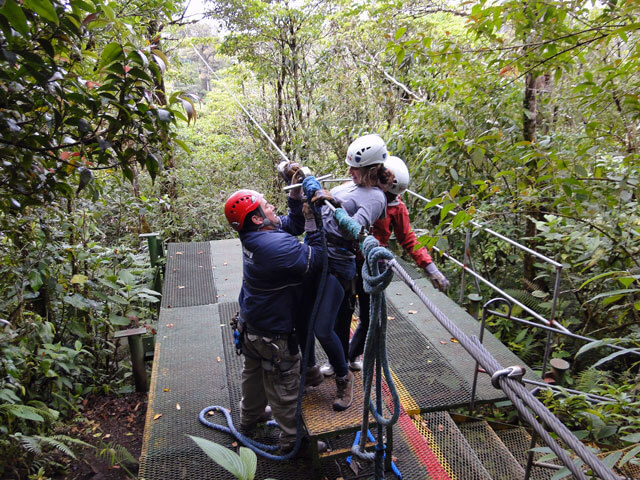 Getting Ready for the Canopy Tour in Monteverde
