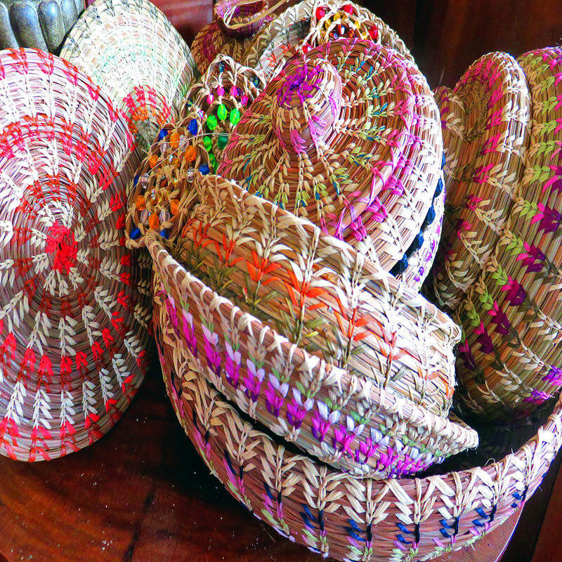 Benito Guindon pine needle baskets